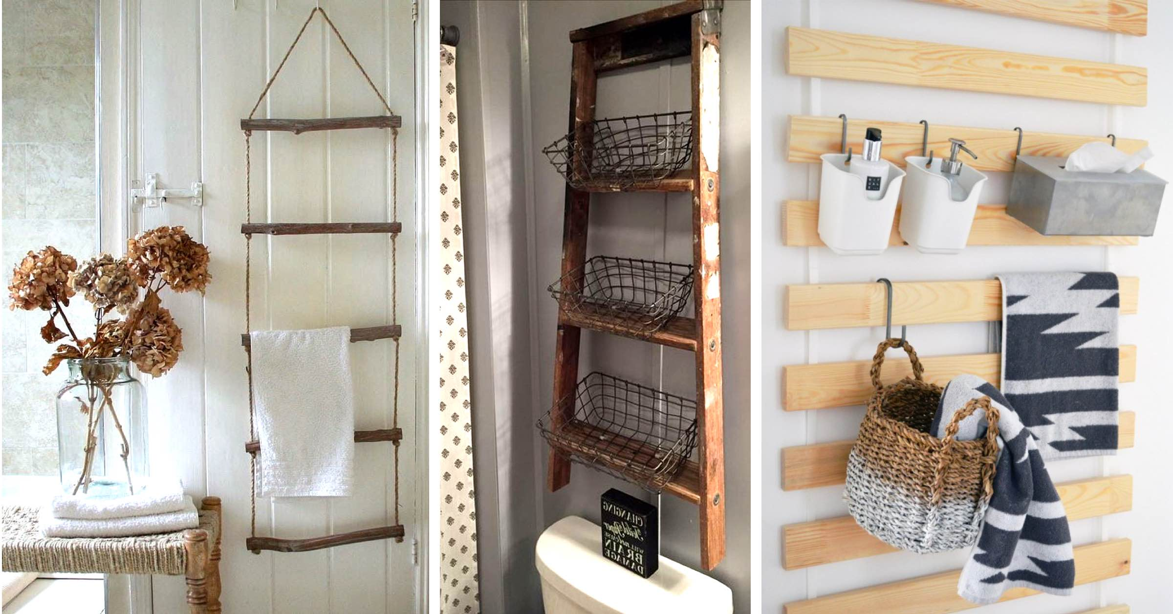 Tiny Home Designs: 20 Hanging Bathroom Storage Ideas Making The Most Of The