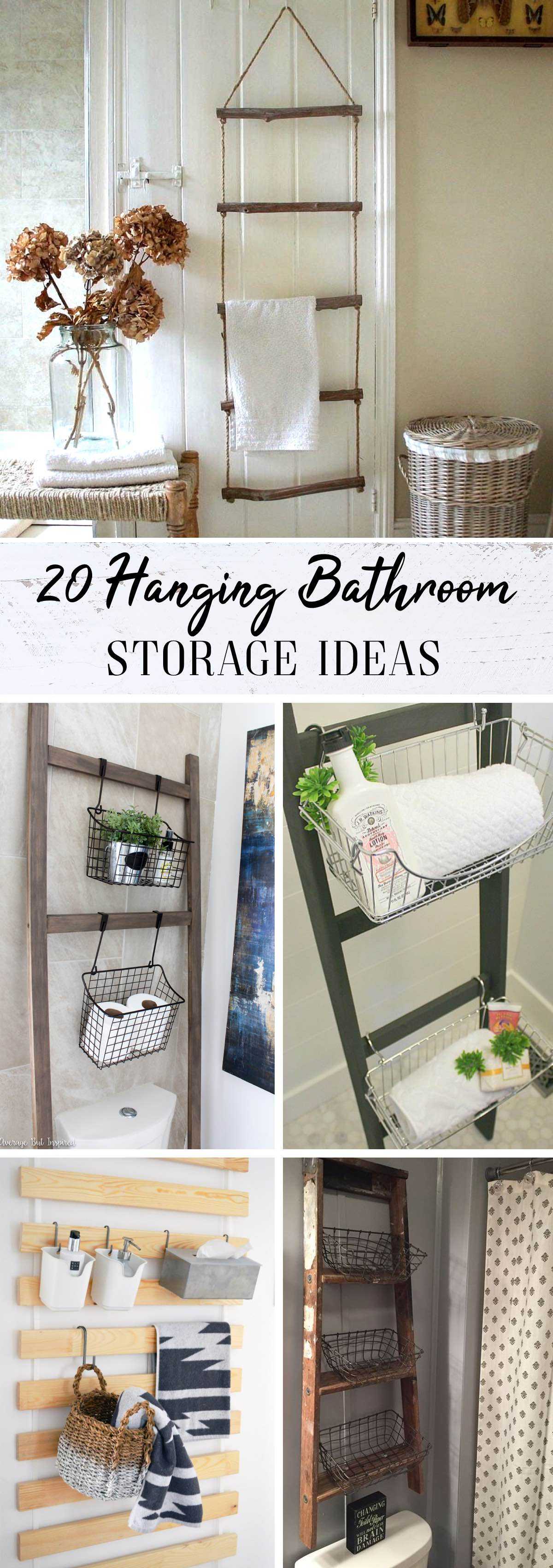 20 Hanging Bathroom Storage Ideas Making the Most of the Wall Space!
