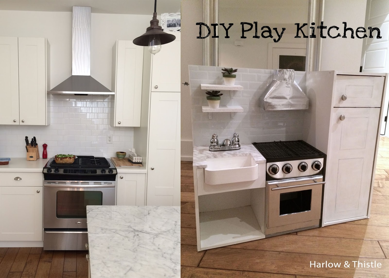 Industrial-Looking Play Kitchen