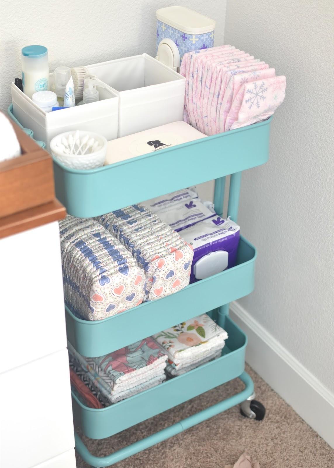 Kitchen Cart Nursery Organizer