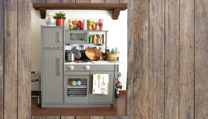 Play Kitchen Loaded with Storage Solutions