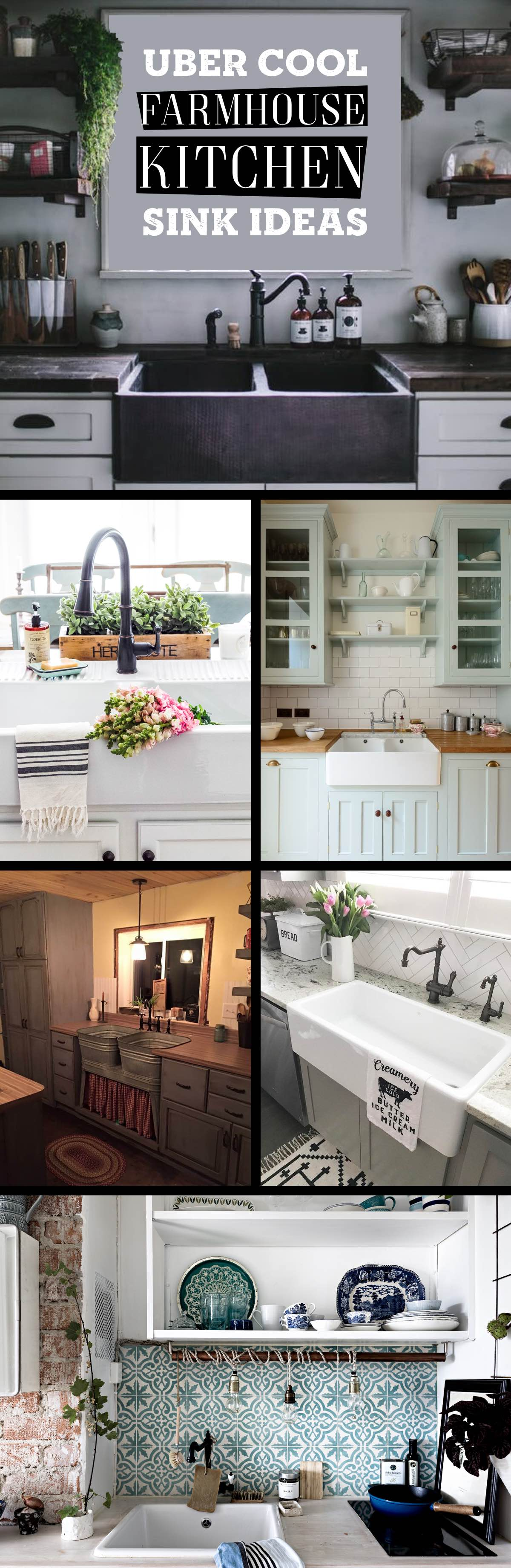 19 Cool Farmhouse Kitchen Sink Ideas That are Versatile ... on Farmhouse Kitchen Sink Ideas  id=95253