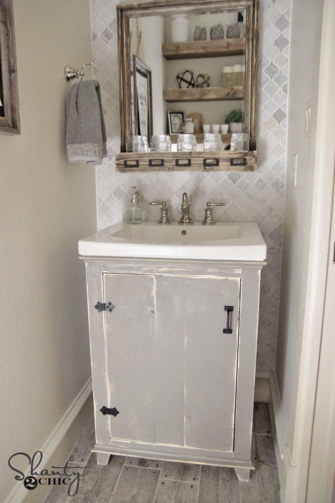 13. Rustic DIY Vanity