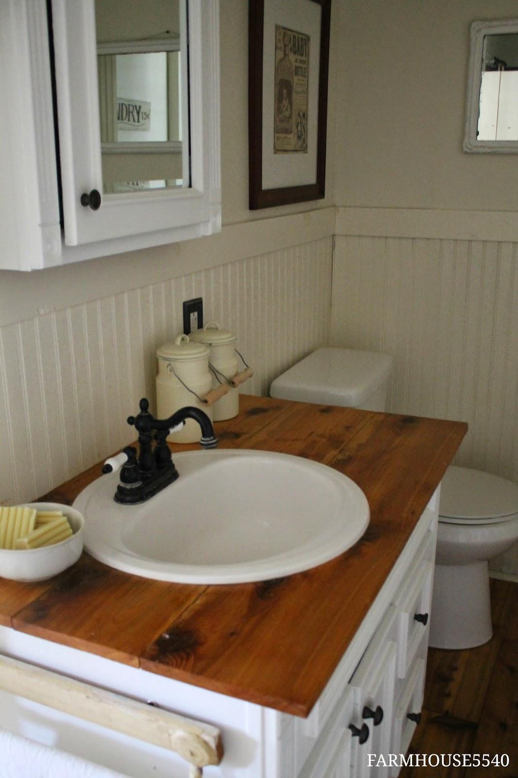 17. Cottage White Vanity