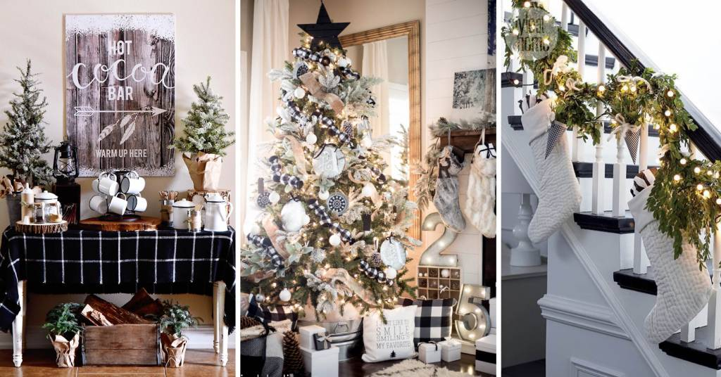 25 Black And White Christmas Decorations Sporting The Classic Color