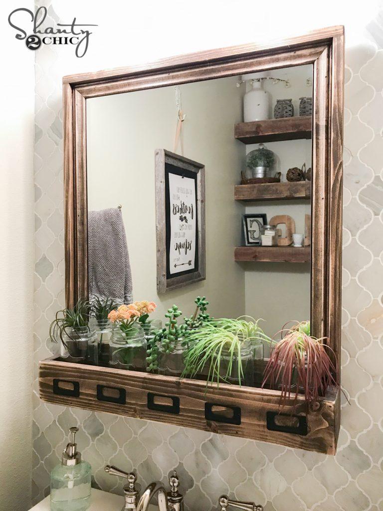 Farmhouse Storage Mirror