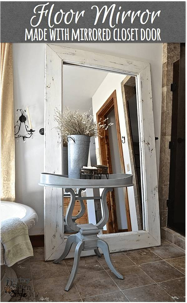 Make Your Very Own Floor Mirror