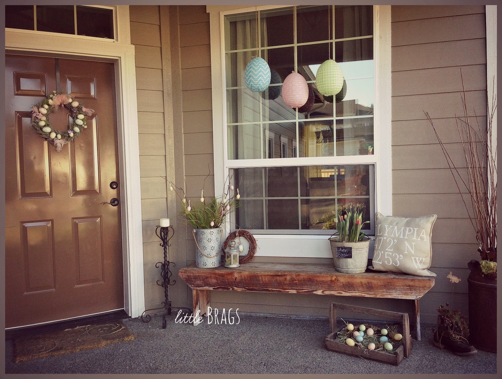 A little Easter Decorating On The Front Porch