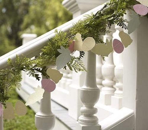Adorable Easter Glitter Garland