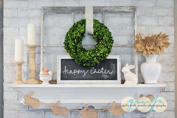Boxwood Wreath and Rustic Hues