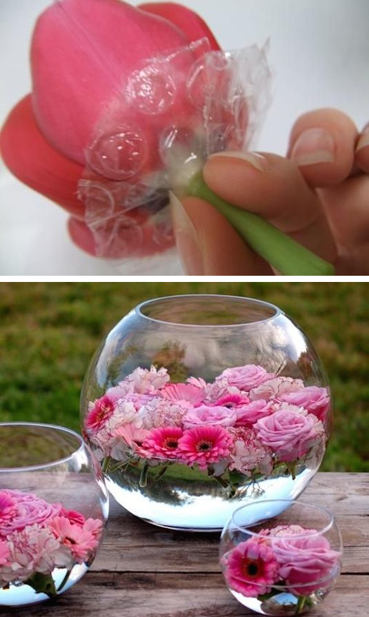 Bubble Wrap For Floating Flowers
