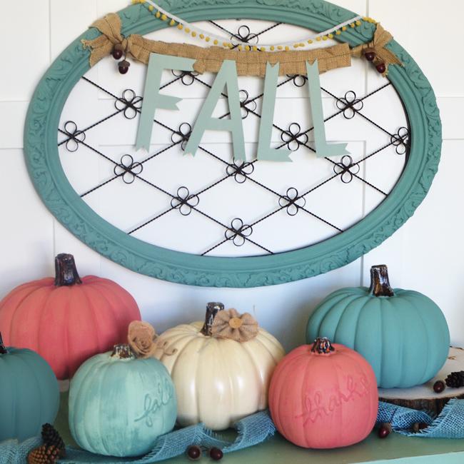 Chalk Painted Craft Pumpkins