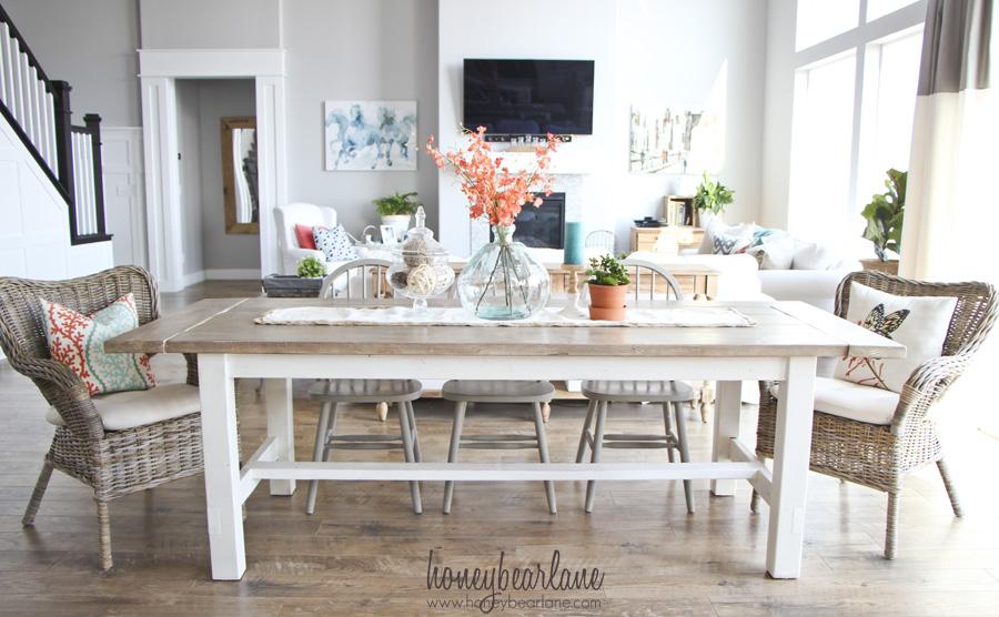 DIY Farmhouse Table And Bench