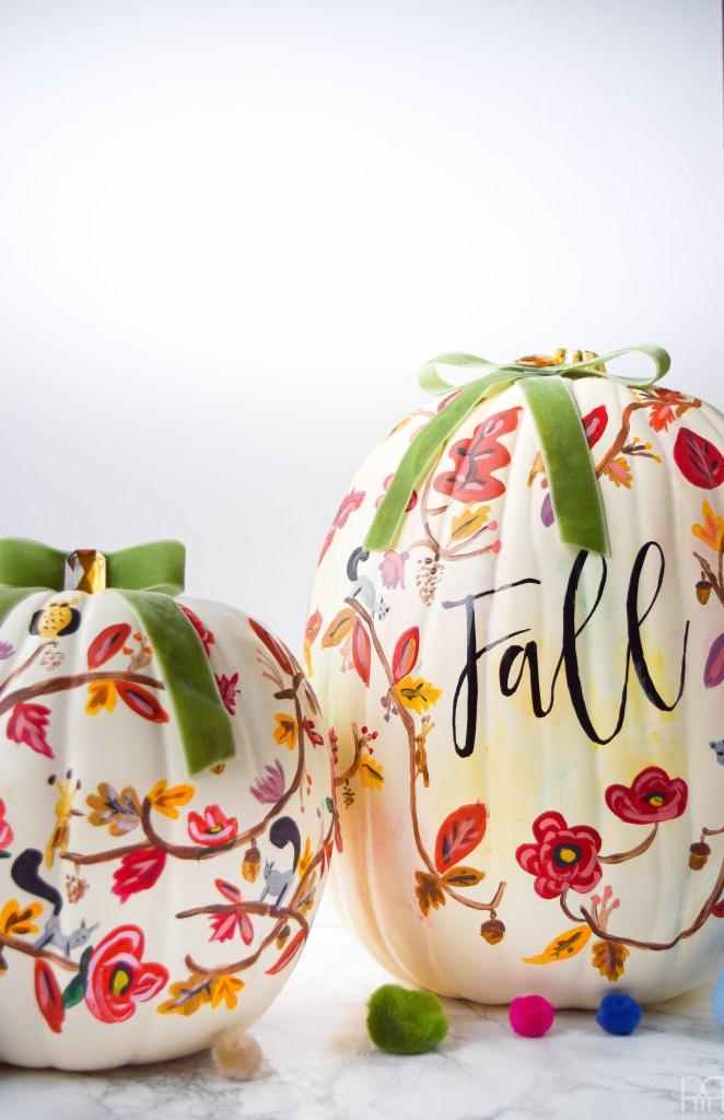 DIY Painted Fall Pumpkin
