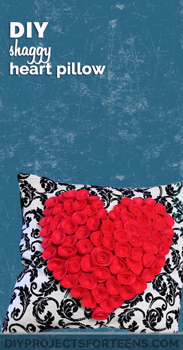 DIY Shaggy Heart Pillow for Your Room