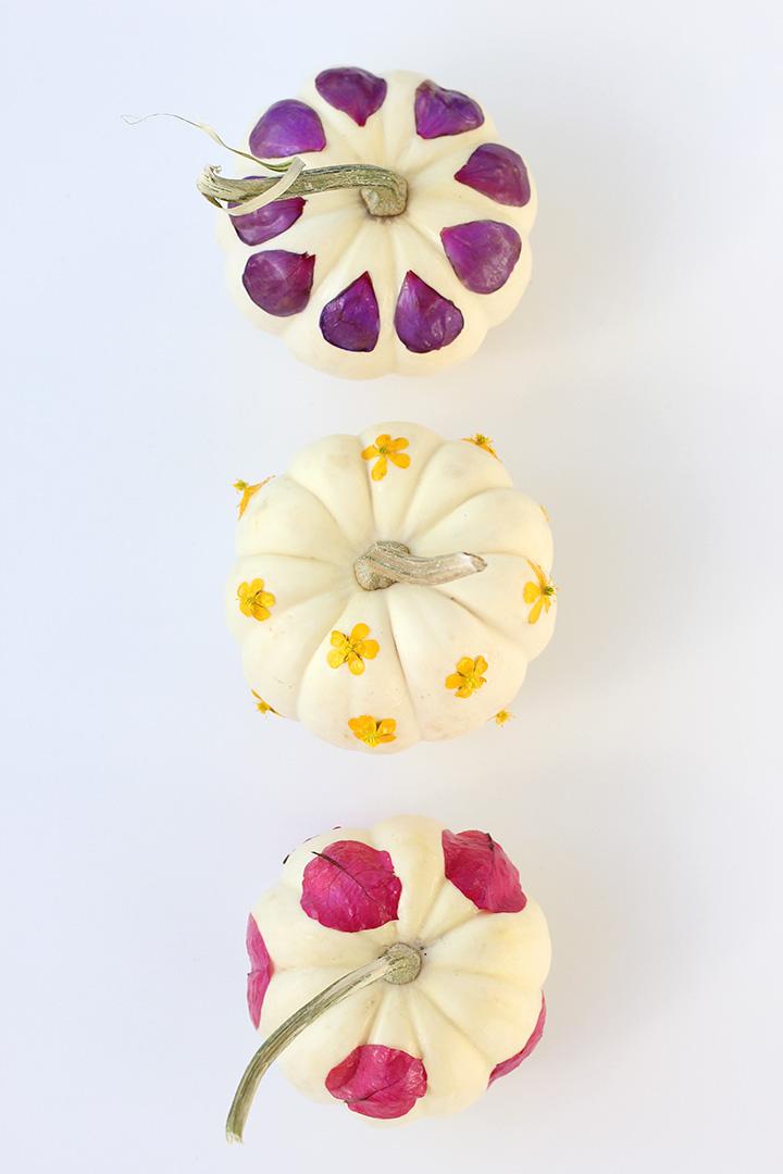Decoupage Flower Pumpkins