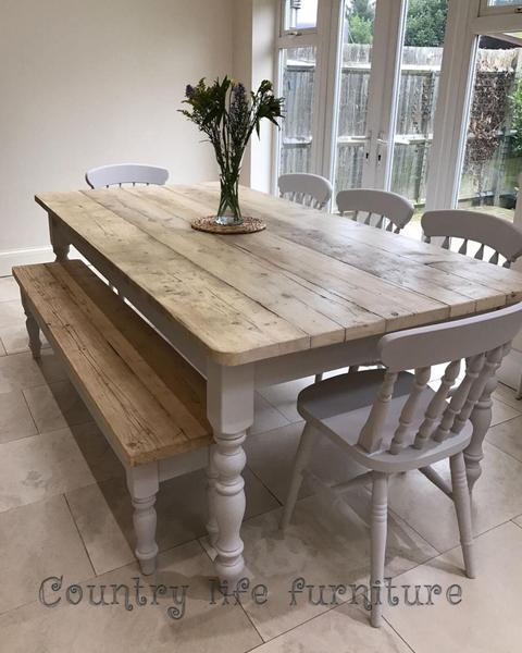 Distressed Wooden Table