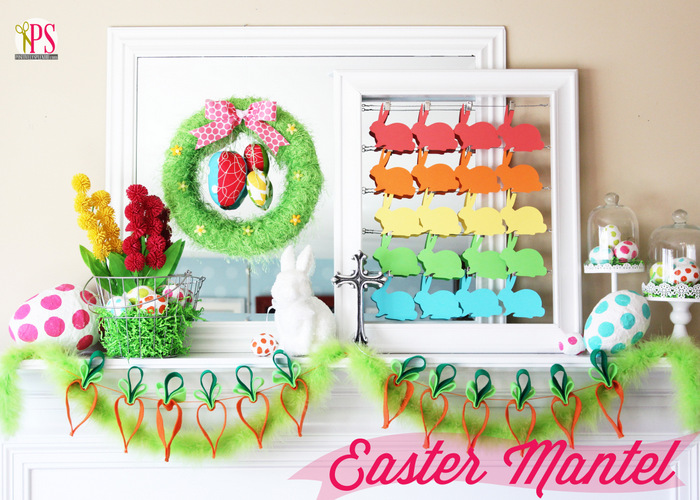 Easter Wreath and Carrot Garland