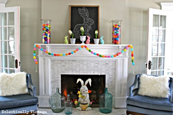 Egg Garland and Large Bunnies