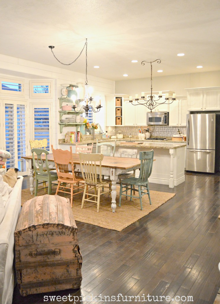 Farmhouse Dining with Mismatched Chairs