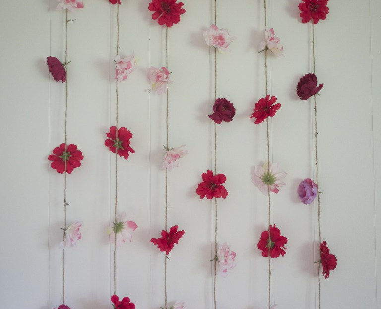 Flower Wall Hanging DIY