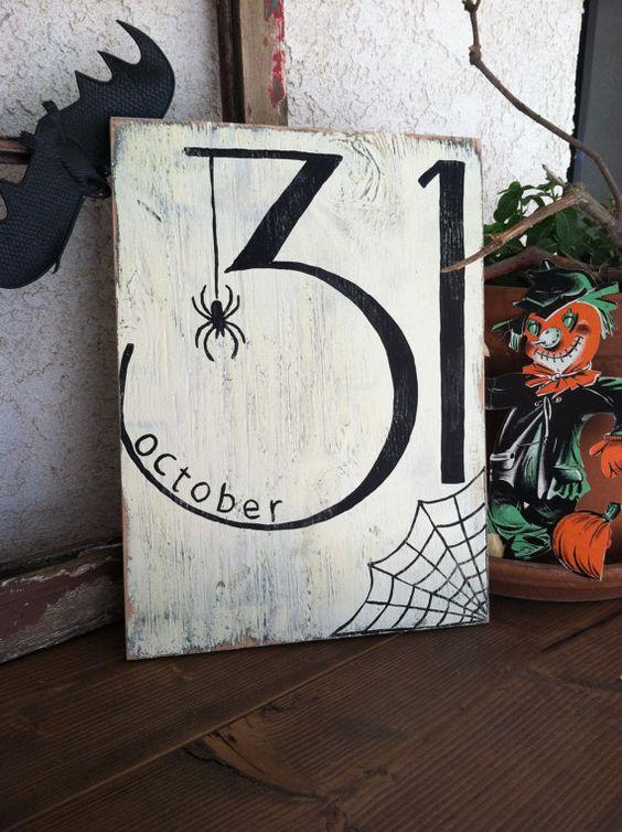 Halloween Date Sign