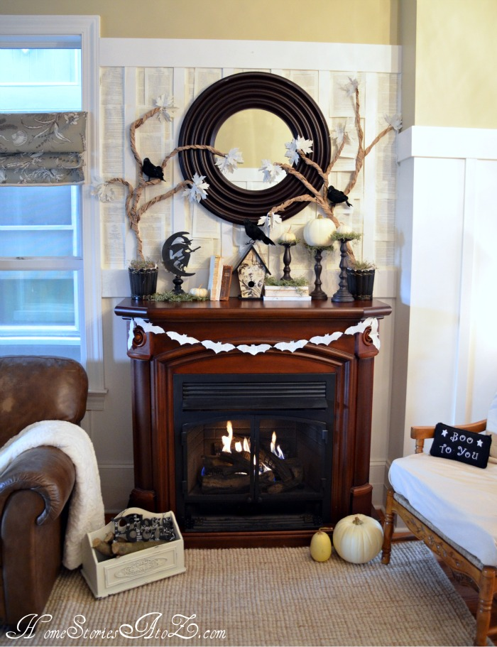 Halloween Mantel Linky Party