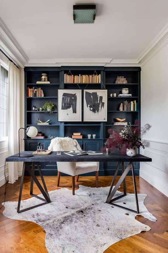 Home Office with Library for Inspiration