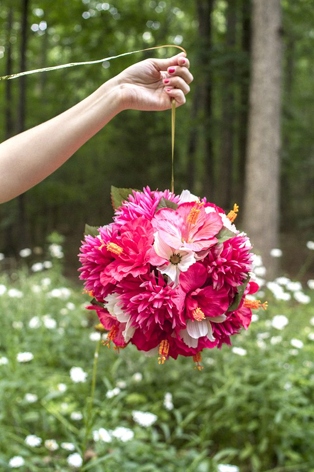 Make Hanging Flower Balls