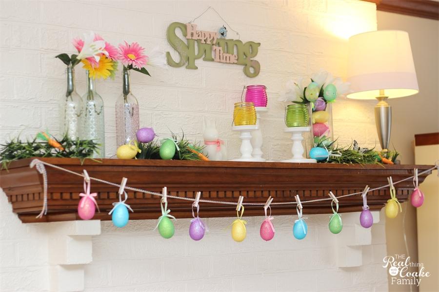 Minimalist Easter Mantel