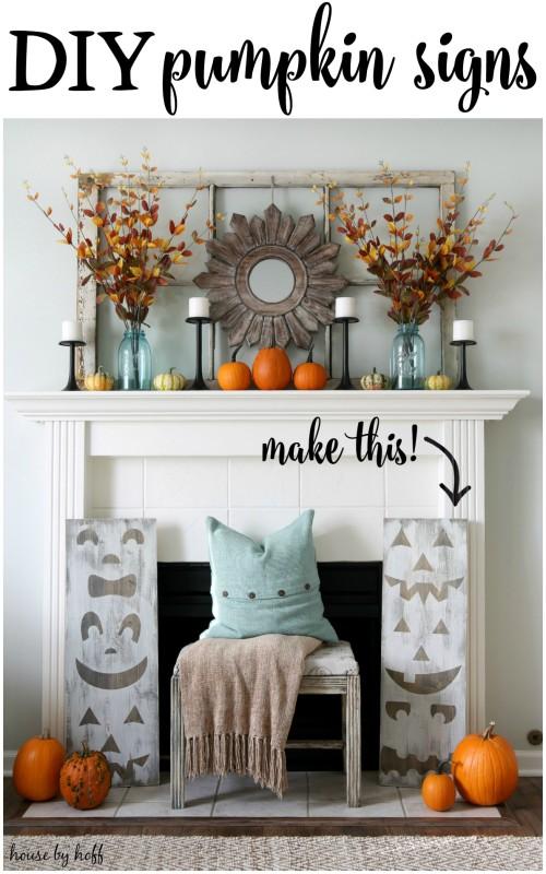 Pumpkin Signs and Window Frames