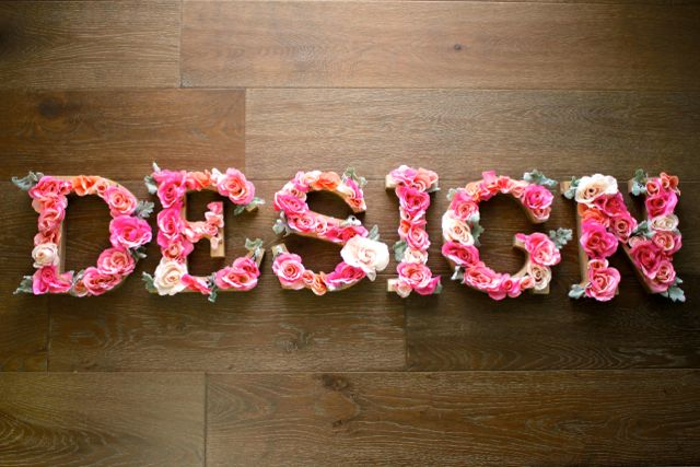 Rustic Letters With Flowers