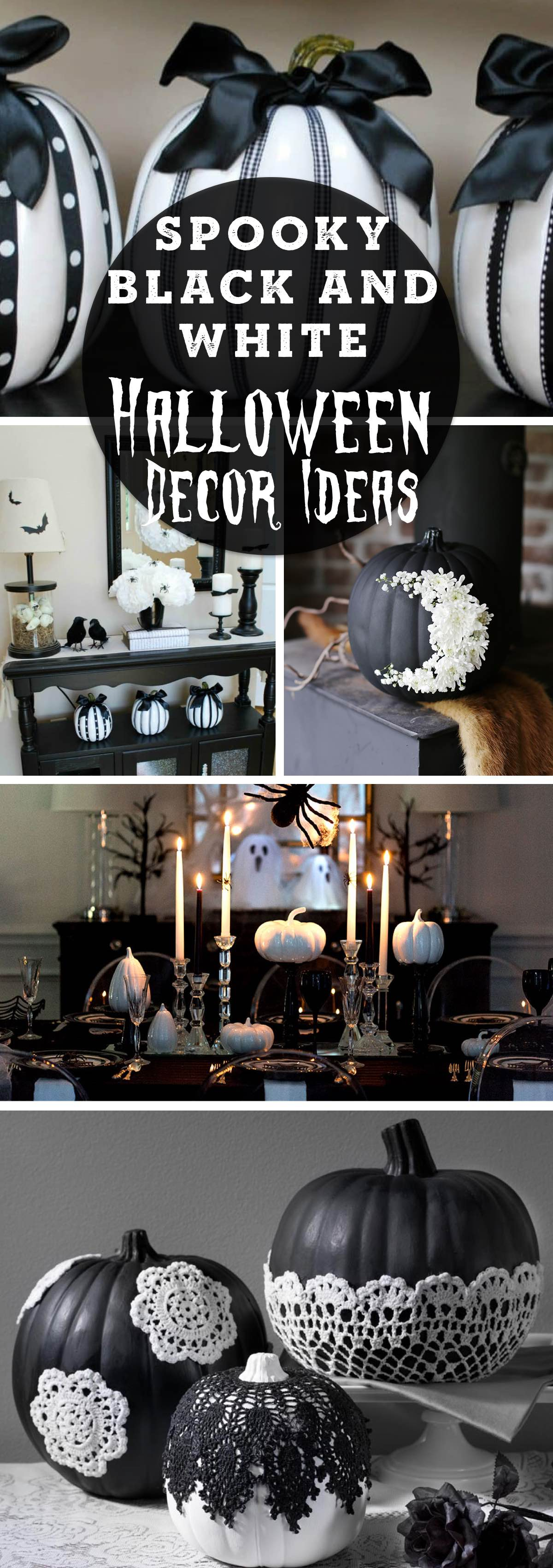 Spooky Black and White Halloween Decor Ideas