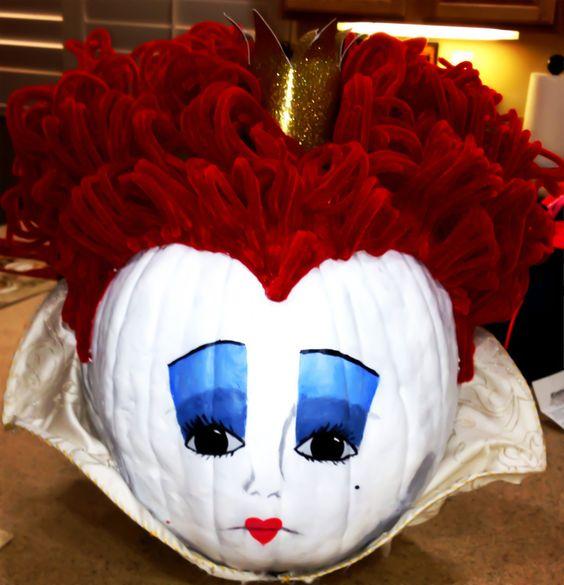 The Queen of hearts Pumpkin