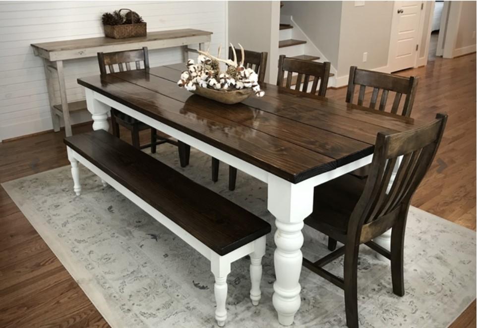 Walnut Finish Dining Table