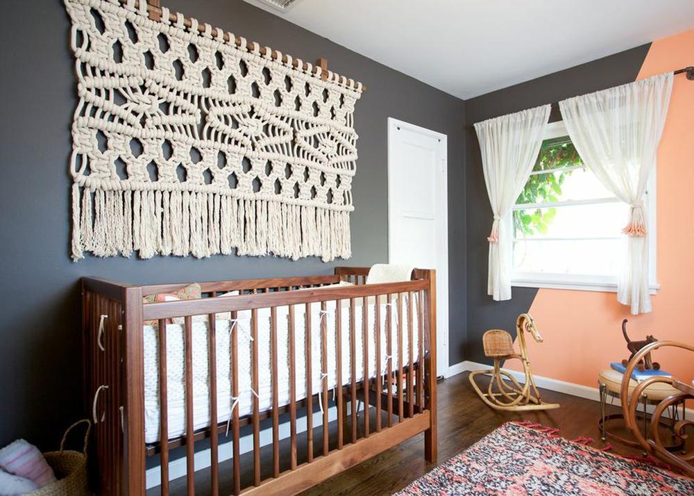 Rustic Interior Baby Nursery