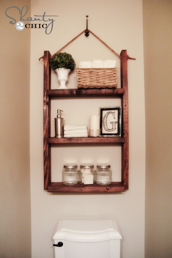 A Hanging Bathroom Shelf