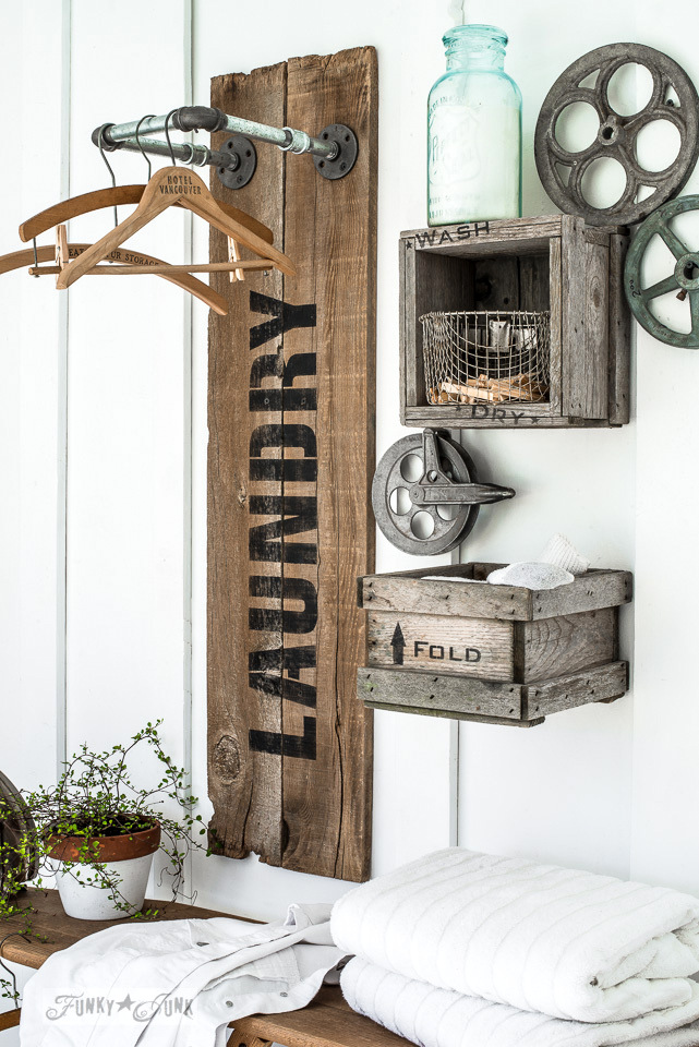 A Reclaimed Wood Laundry Sign