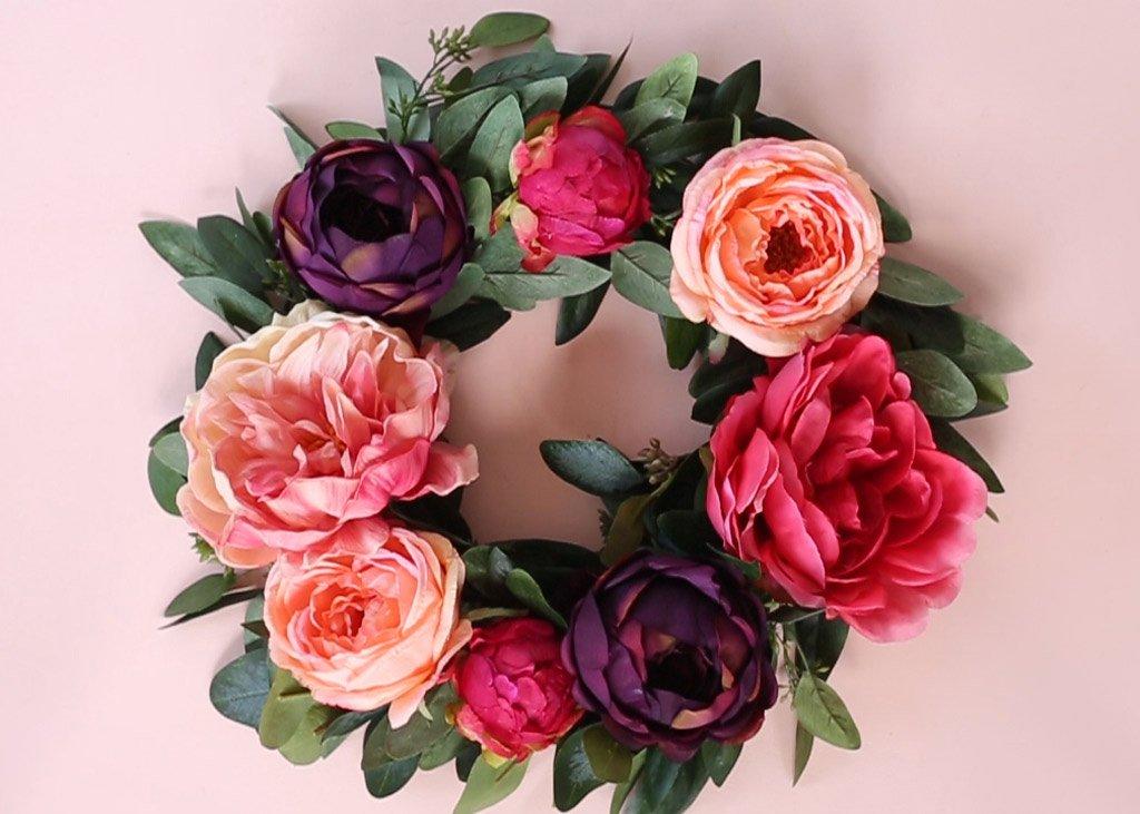 A Silk Flower Wreath