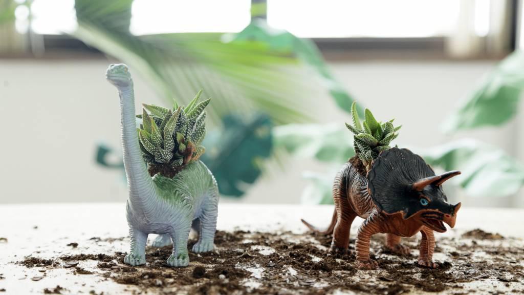 Adorable DIY Dino Planter
