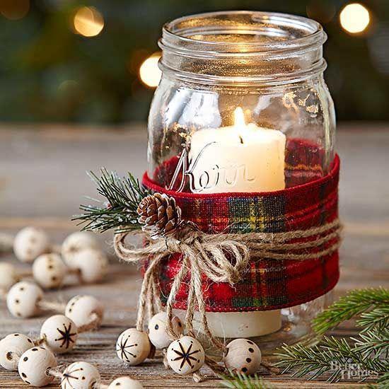 Adorable Mason Jar Christmas Candle