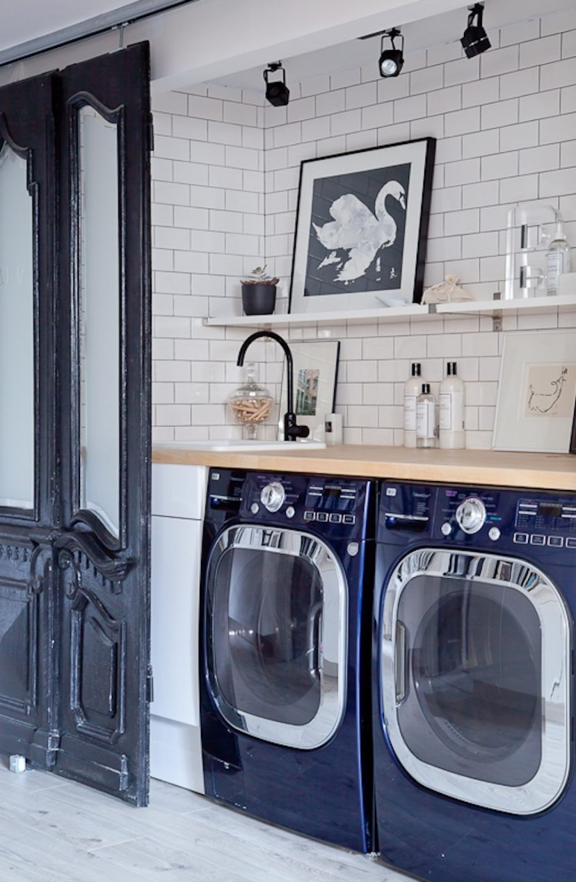 An Eclectic High Glam Laundry Room