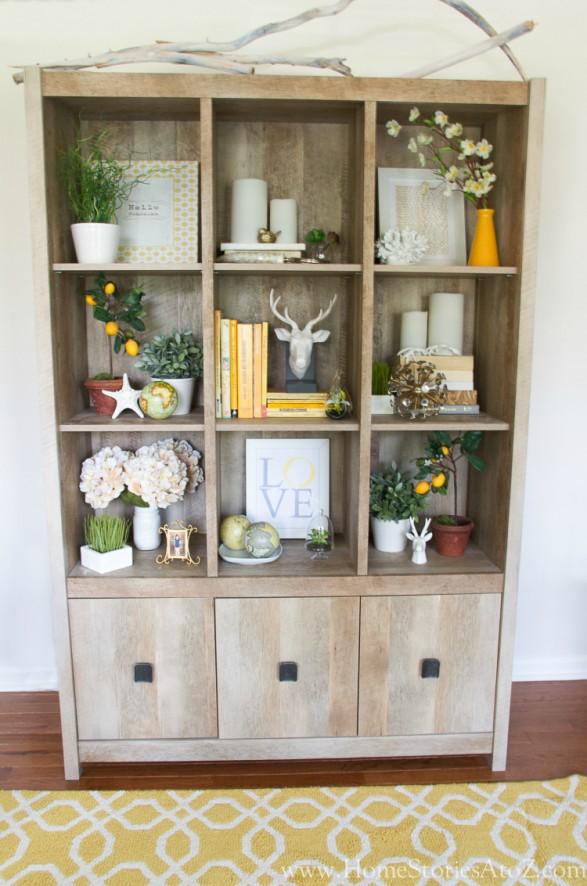 Bookshelf with Hidden Storage