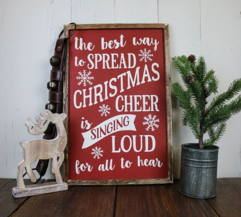 Bright Red Signboard and Rustic Pieces