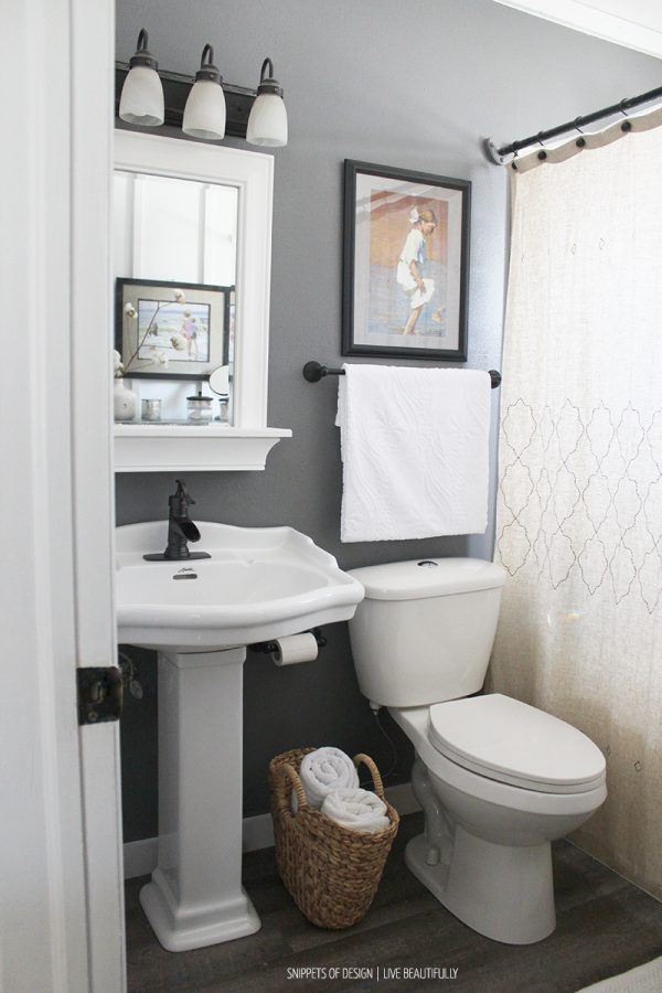 Bring Tranquility to a Small Bathroom