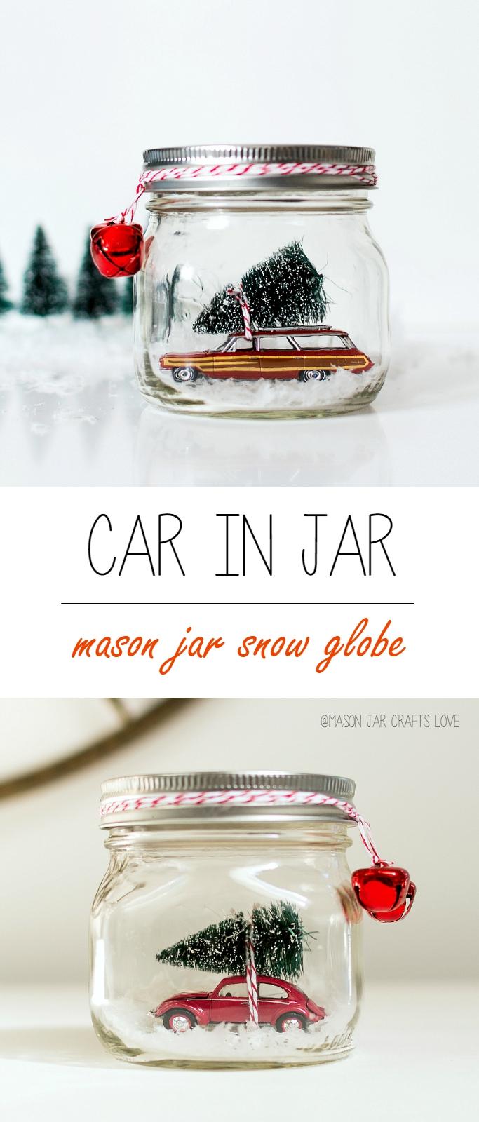 Car In Jar Snow Globe