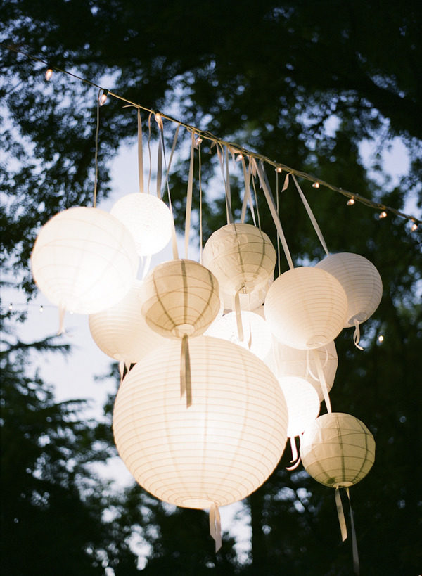 Chandelier with Paper Lanterns
