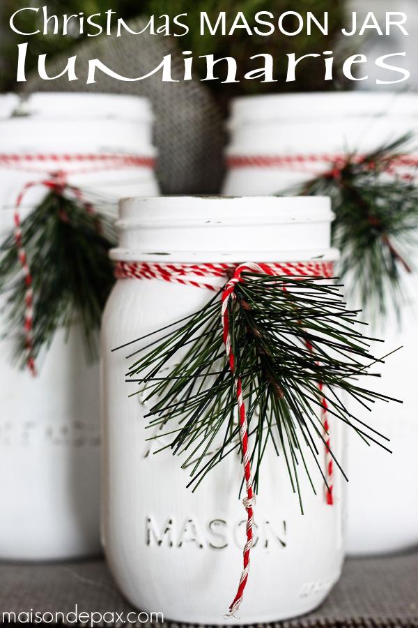 Christmas Mason Jar Luminaries