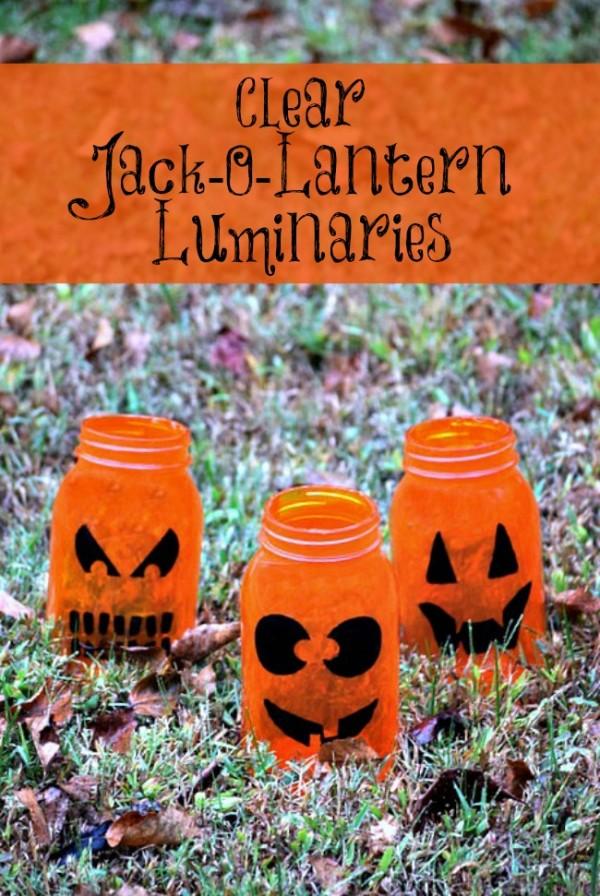 Clear Jack-O-Lantern Luminaries