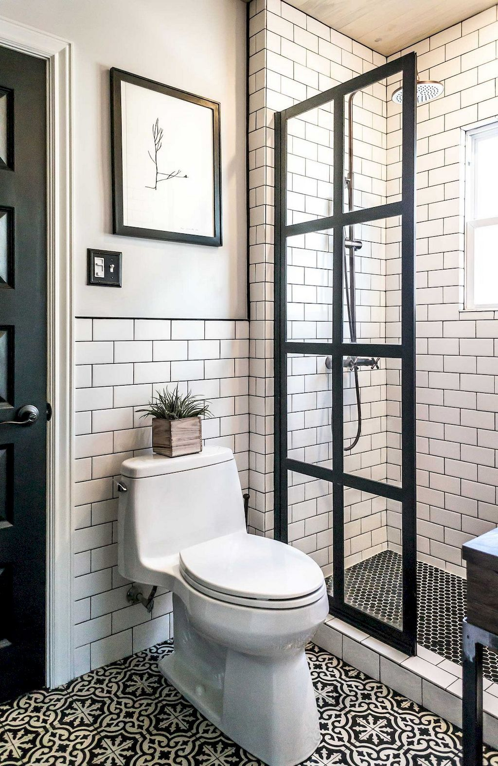 Cool Small Bathroom With Glass Door Shower Area